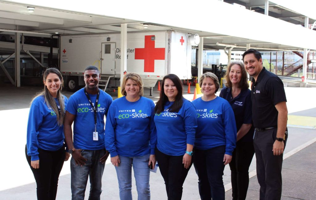 Furniture donations from United Airlines to American Red Cross