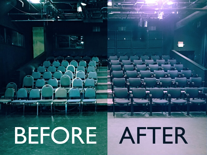 Before and after at Theatre Puget Sound